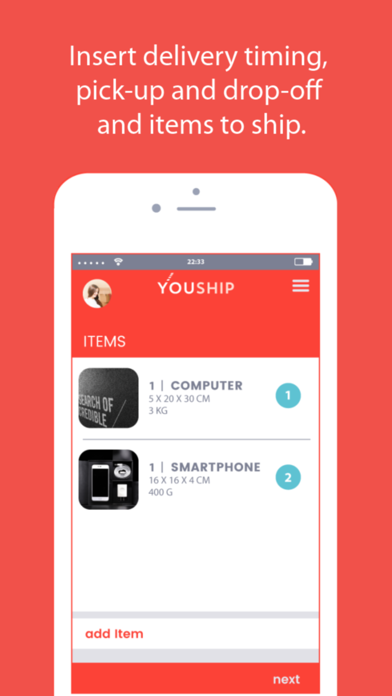 YOUSHIP - Delivery on demand screenshot two