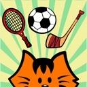Kikimoji Sports – Cat Stickers