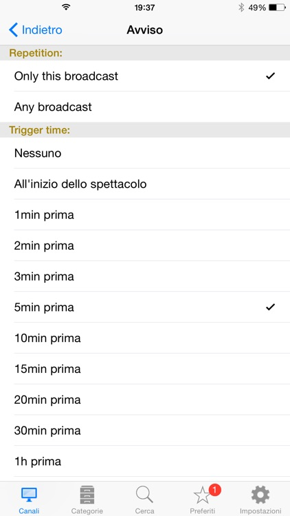 Italian TV Schedule screenshot-3
