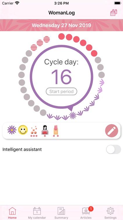 WomanLog Period Calendar