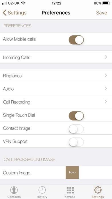The Argyll Club Softphone screenshot three