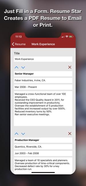 Resume Star | Resume Star Pro Cv Maker On The App Store