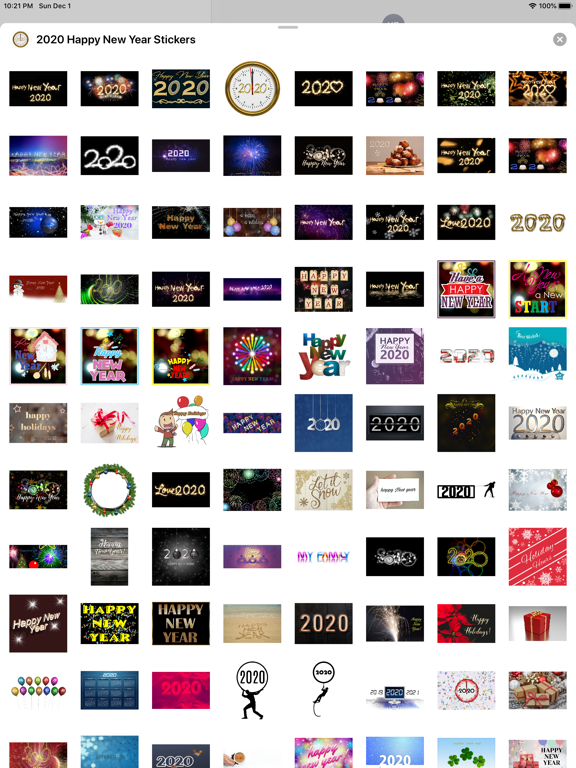 2020 Happy New Year Stickers screenshot 11