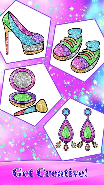 Glitter Fashion Art Coloring screenshot-7