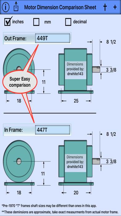 Motor Dimension Comparison 2
