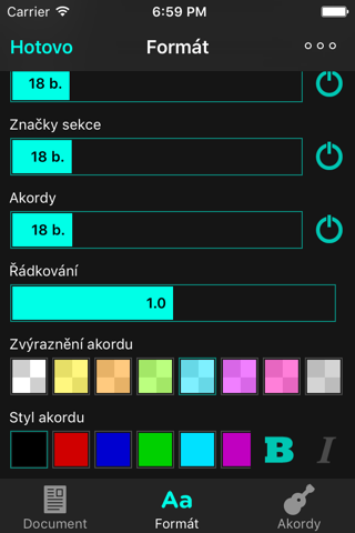 OnSong Pro - náhled