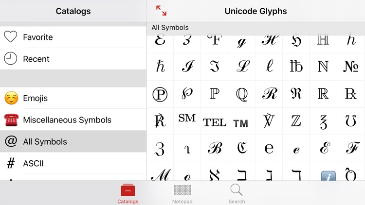 Unicode Pad Pro with keyboards