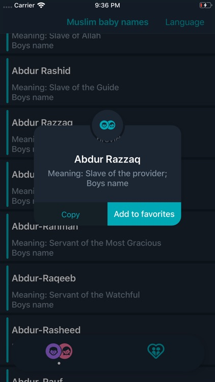 Muslim Baby Names and Meaning