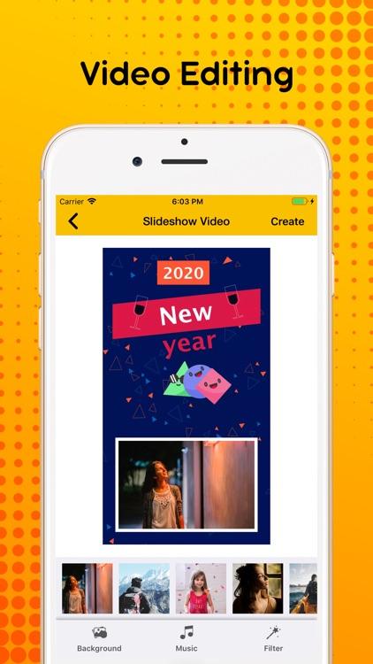 New Year 2020 : Video Maker screenshot-8