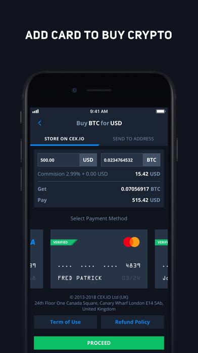CEX.IO Криптовалютная биржаСкриншоты 2