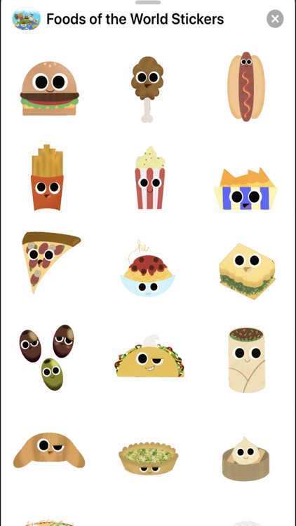 Foods of the World Stickers screenshot-4