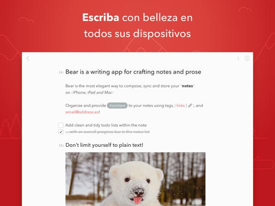 Bear - Bloc de notas privado