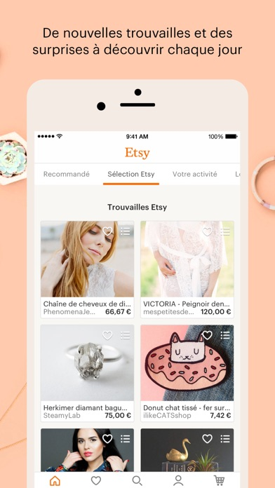Screenshot for Etsy – Articles créatifs in Lebanon App Store