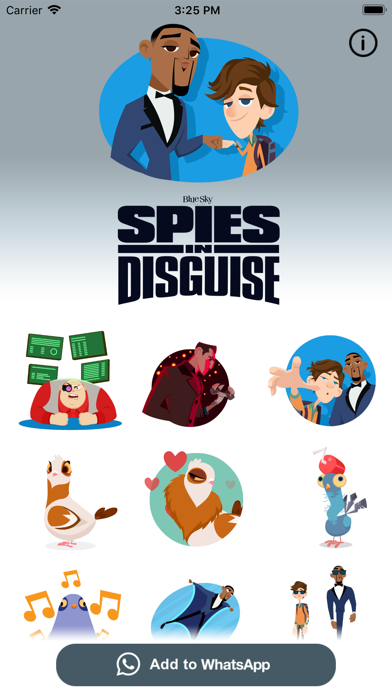 Spies in Disguise Stickers screenshot 1