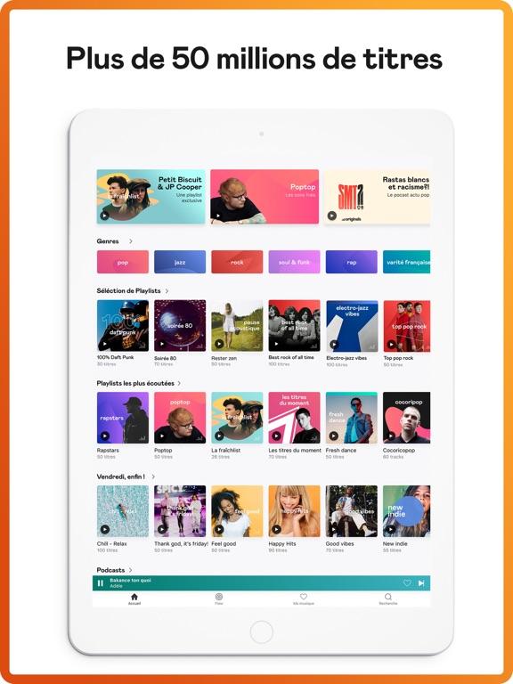 Screenshot #4 pour Deezer: Musique & Playlists