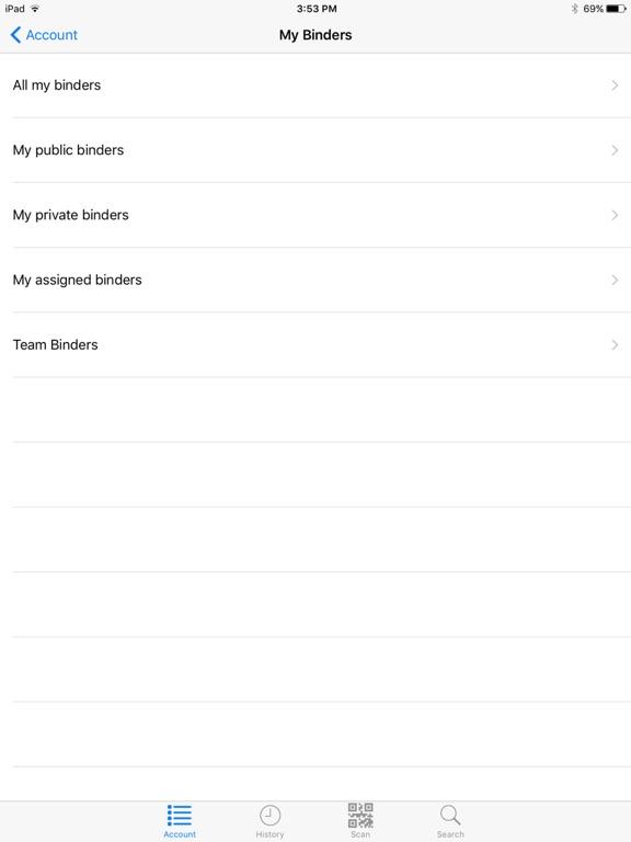 LiveBinders Screenshot 1