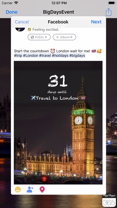 Big Days! Ereignisse CountdownScreenshot von 5