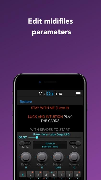 micOnTrax: Audio Midi Player screenshot-5