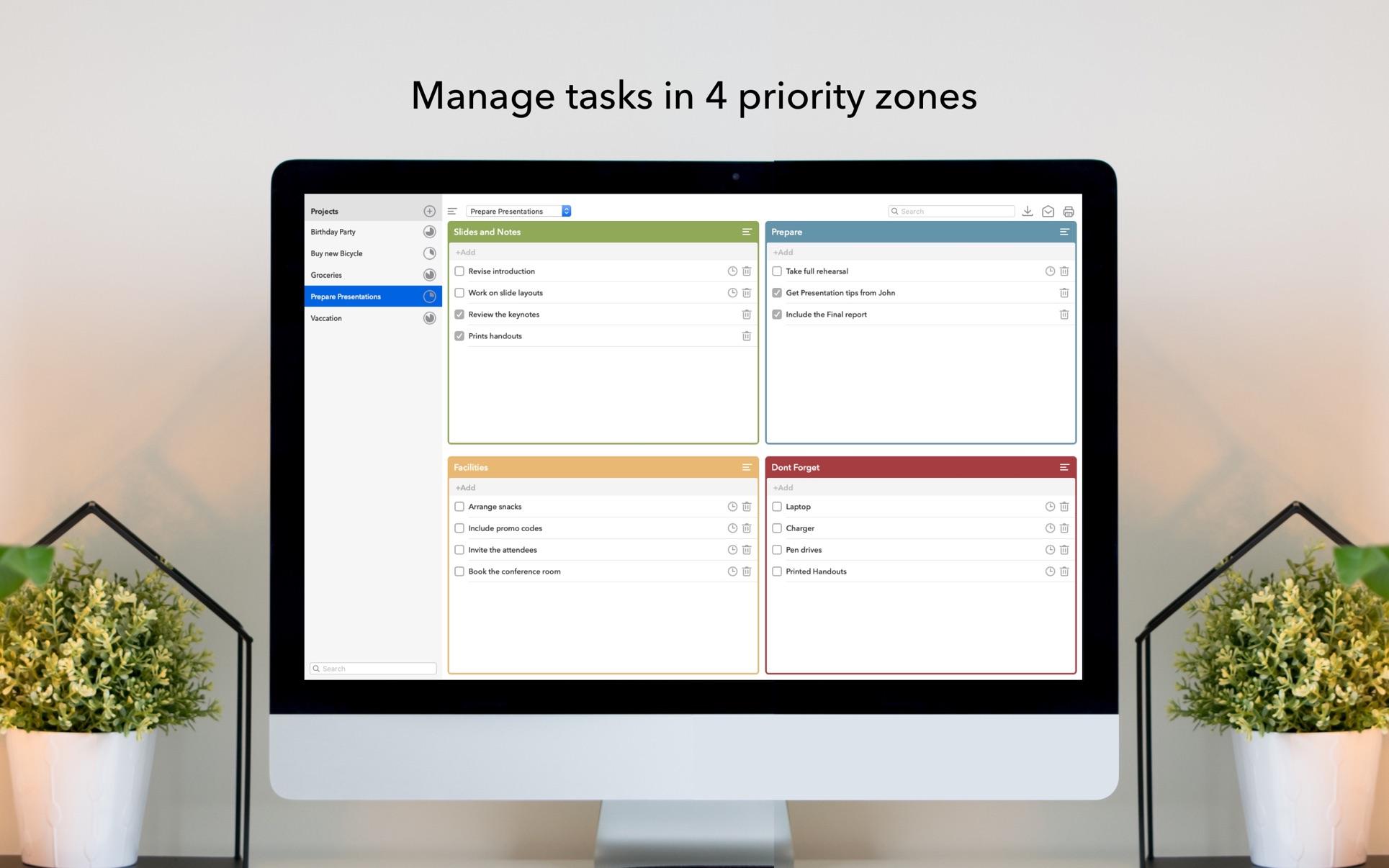 Quadranto - Manage Tasks