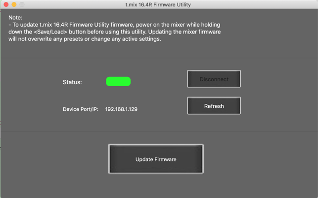 t mix 16 4R Firmware Utility on the Mac App Store