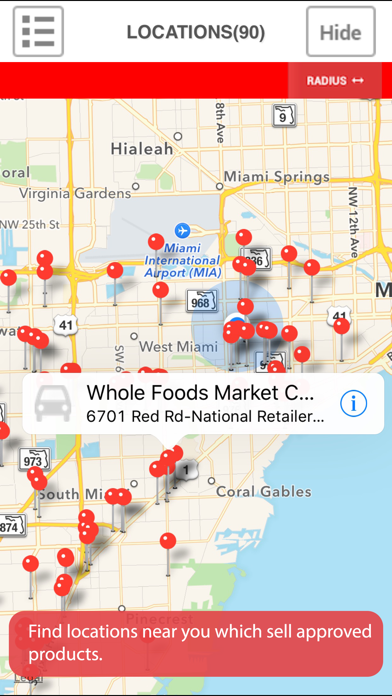 Find Real Food Locations Screenshot