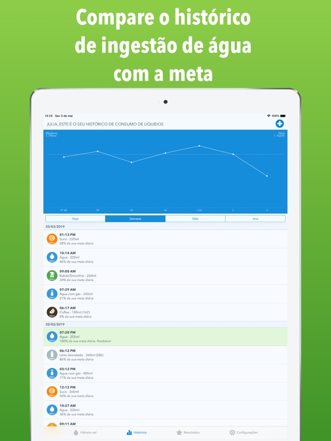 WaterMinder Screenshot