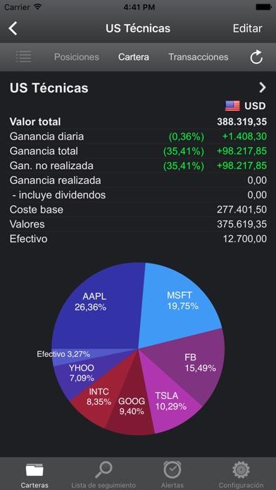 Screenshot for Portfolio Trader - Acciones in Mexico App Store