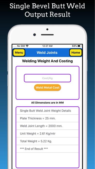 Welding Weight Calculator Pro screenshot 8
