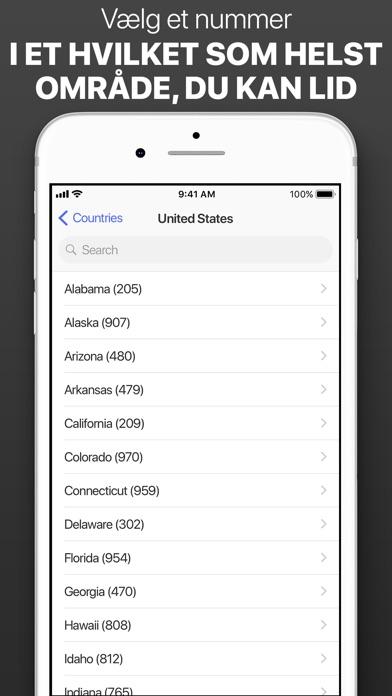 Screenshot for Andet telefonnummer in Denmark App Store