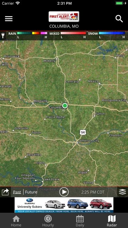 KOMU 8 Weather App by University of Missouri