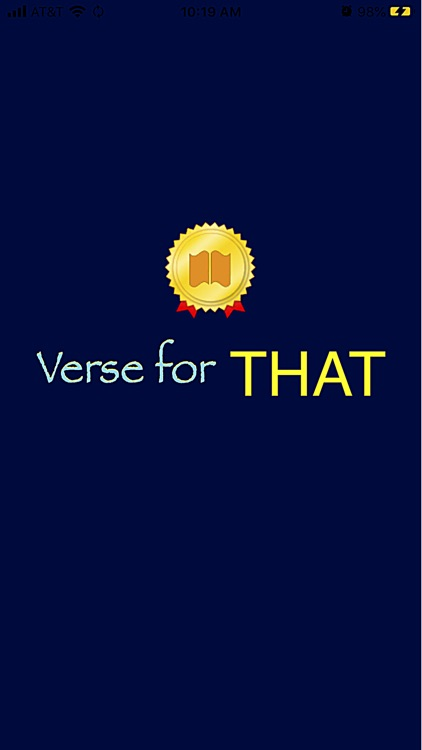 Verse For THAT