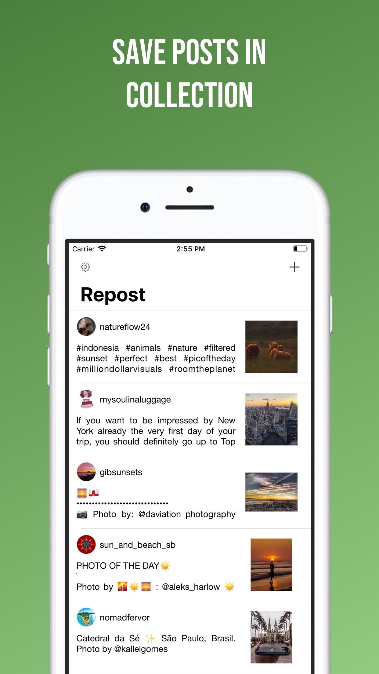 Screenshot do app Easy Repost for Instagram