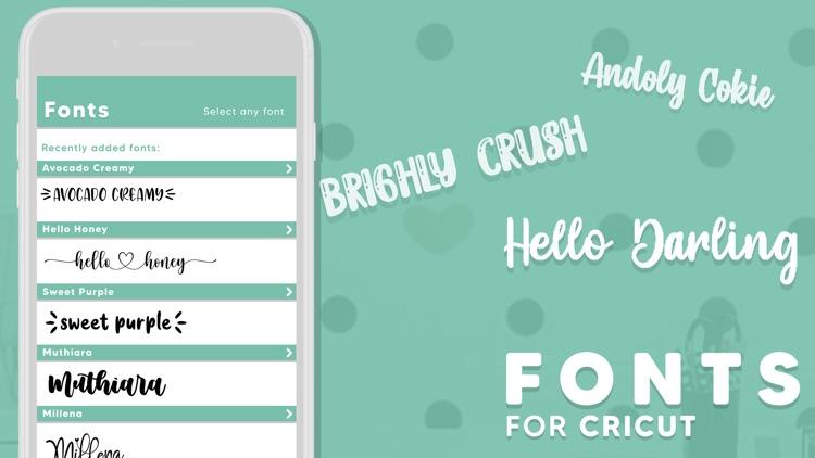 Fonts for Cricut