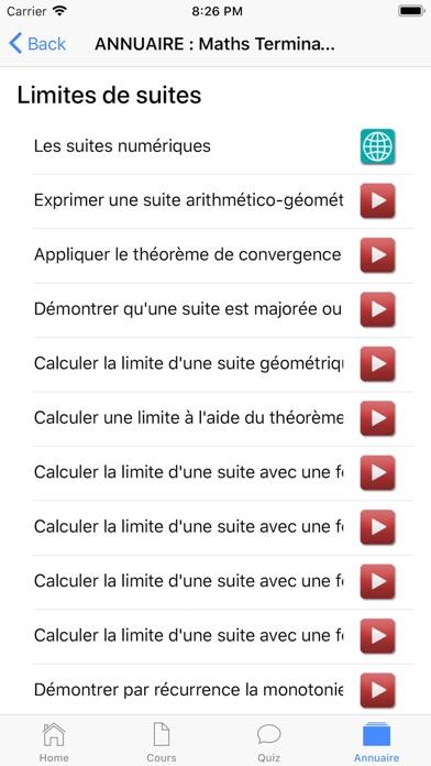 Maths Terminale S screenshot 7