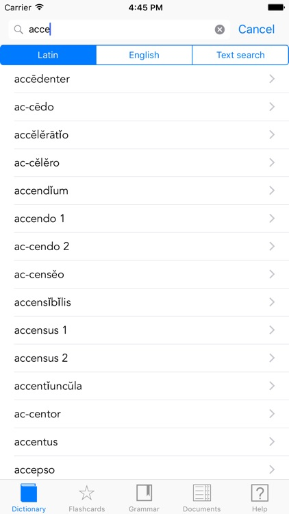 Scriba (Latin Dictionary) screenshot-0
