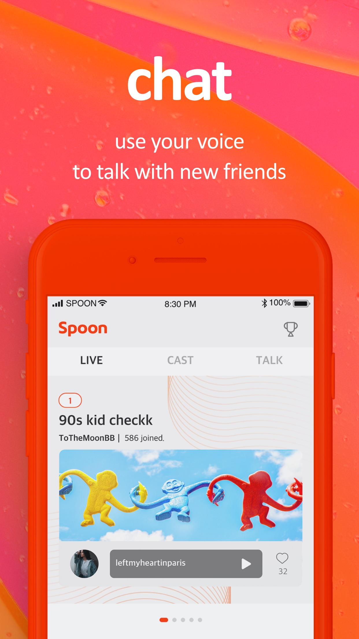 Spoon   Audio Live Streaming Screenshot