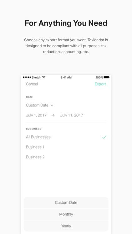 Taxlendar: Tax Deductions&Log screenshot-5