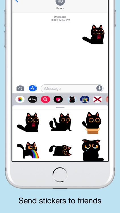 Black cat stickers - Funny emo screenshot-3