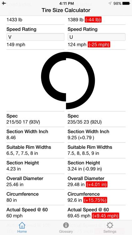 Tire Size Calculator screenshot-4