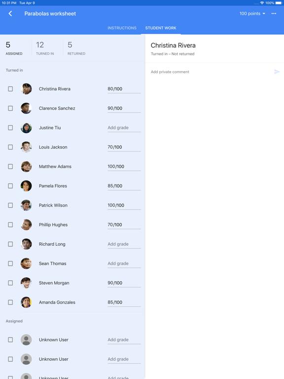 Google Classroom screenshot 8