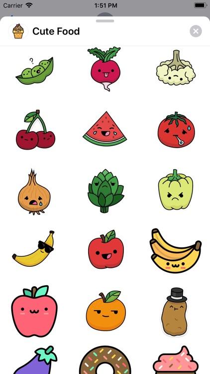 Cute Food Sticker Pack screenshot-3