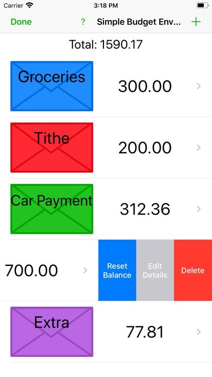 Simple Budget Envelopes screenshot-3