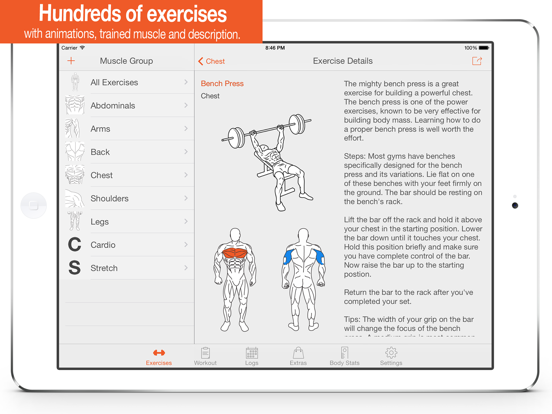 Fitness Point - Workout Exercise Journal & Personal Trainer + Body Tracker screenshot