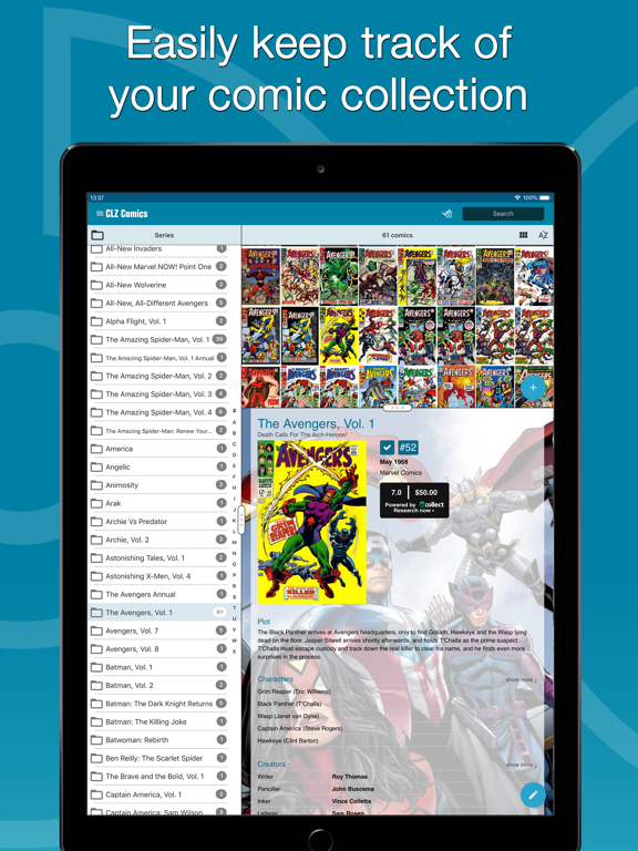Screenshot #4 pour CLZ Comics - Comic Database