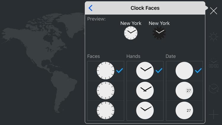 map:clock - World Map & Clock screenshot-8