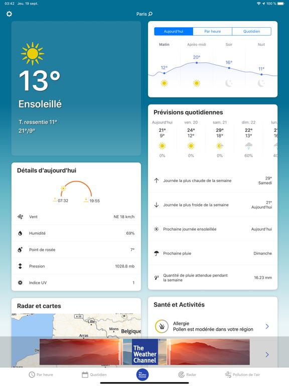 Screenshot #4 pour The Weather Channel: prévision