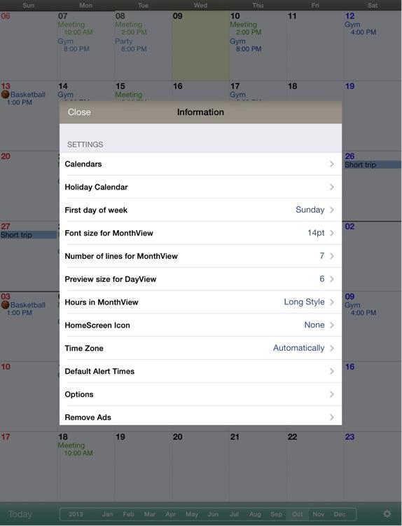 Monthly Calendar MocaHD screenshot-3