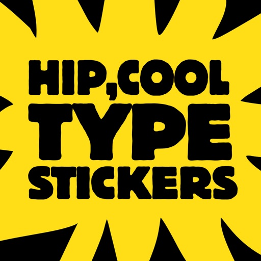 Hip Cool Type Stickers