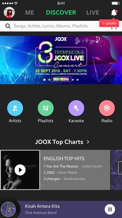 JOOX Music screenshot-0