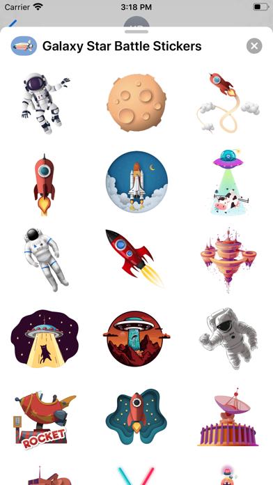 Galaxy Star Battle Stickers screenshot three